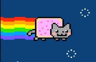 A still from Nyan Cat, perhaps the most famous GIF on the Internet.
