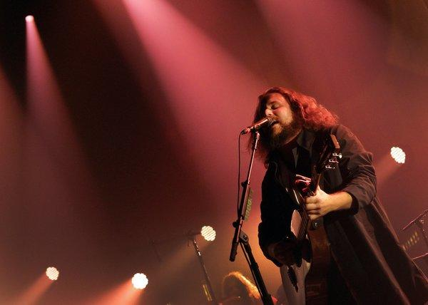 Jim James performs with My Morning Jacket at the Pantages Theatre in 2011.
