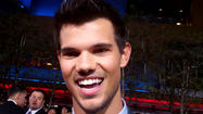"Taylor Lautner at ""The Twilight Saga: Breaking Dawn -- Part 2"" premiere"