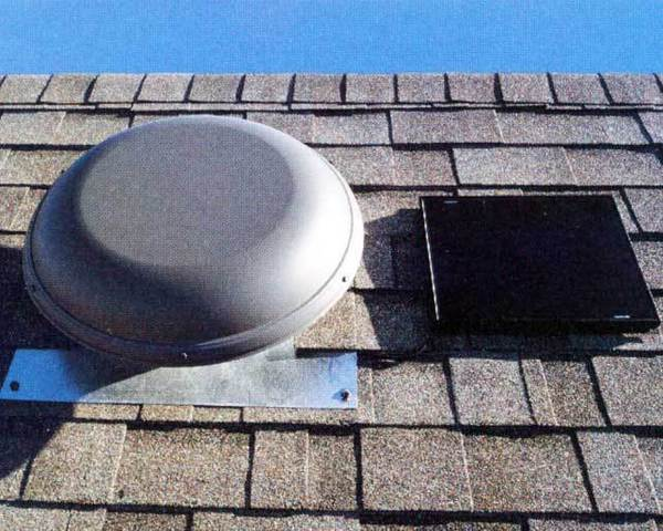 Use the power of the sun to ventilate your attic with a solar attic fan mounted on the roof. A carpenter will charge $850; you can buy the Solar Star fan and a flashing kit for $700.