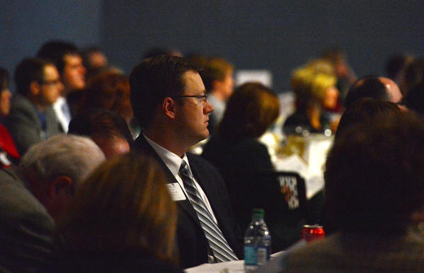 About a 1,000 local Lehigh Valley business people were in attendance during The Greater Lehigh Valley Chamber of Commerce's annual meeting at the new Sands Event Center in Bethlehem on Tuesday.