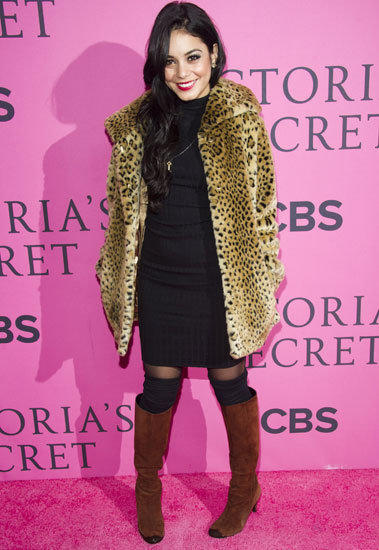 Vanessa Hudgens arrives at the Victoria's Secret Fashion Show in New York.