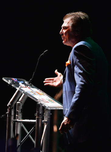 "Vince ""The Invincible"" Papale, a former Philadelphia Eagles player spoke about overcoming challenges during The Greater Lehigh Valley Chamber of Commerce's annual meeting at the new Sands Event Center in Bethlehem on Tuesday."
