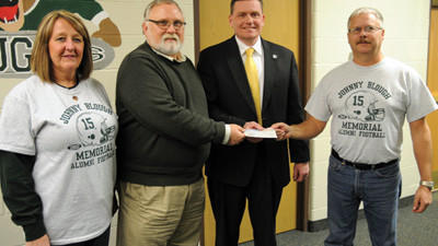 North Star School Board presented with donation by friends and family of Johnny Blough