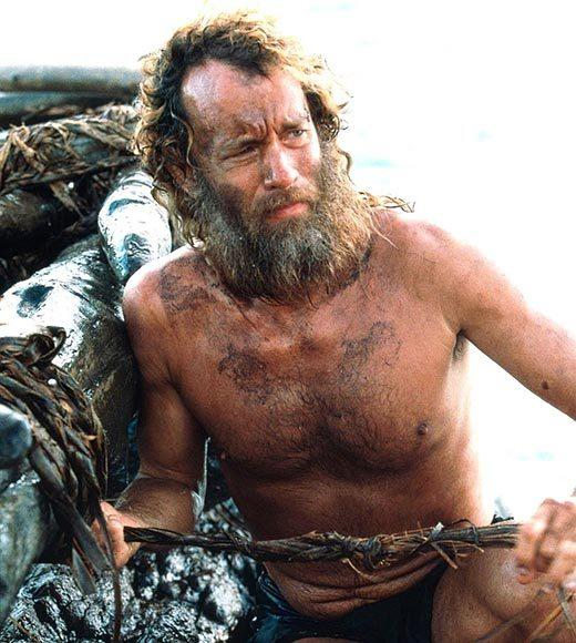"Hanks lost about 50 pounds -- and gained a whole bunch of hair -- to star in ""Castaway."" It got him an Oscar nomination."