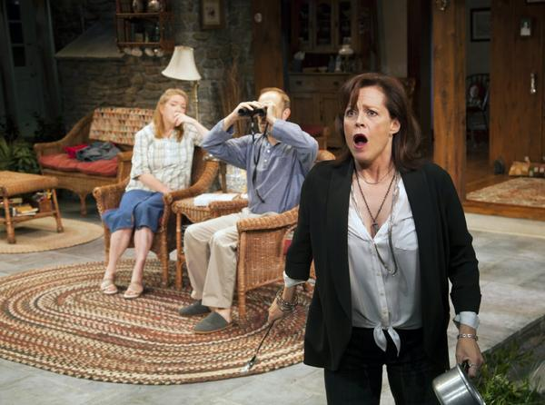Sigourney Weaver has returned to the New York stage in a new play by Christopher Durang currently running at Lincoln Center's Mitzi E. Newhouse Theater.