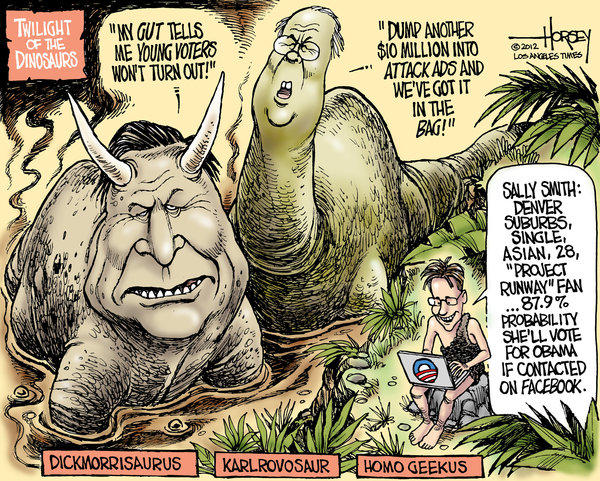 Dick Morris and Karl Rove are becoming political dinosaurs