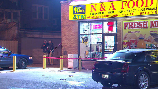 A man was found fatally shot in a store on 1100 block of West 84th Street.