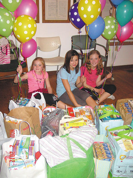 "From left, Lindsey Coffman, Mariah Marshall and Meghan Coffman are shown at their ""Triple Deluxe Dance Birthday Party."""