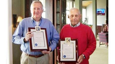 From left: Bob Kern and Gene Steele