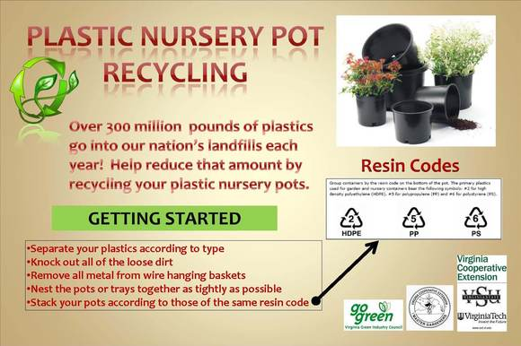 Take your empty plastic plant pots for proper disposal and recycling, not tossed into a landfill.