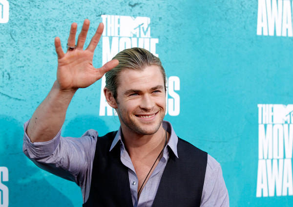 Actor Chris Hemsworth attends the 2012 MTV Movie Awards in Los Angeles, Ca. on June 4.