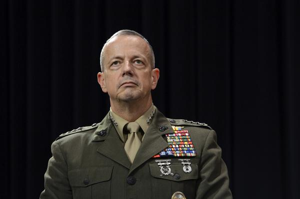 "In this Oct. 10 photo, Gen. John Allen, newly appointed as Supreme Allied Commander in Europe, attends a meeting of NATO defense ministers at NATO headquarters in Brussels. Allen is under investigation for ""inappropriate"" emails to a woman linked to the scandal involving former CIA director David Petraeus, a defense official said."