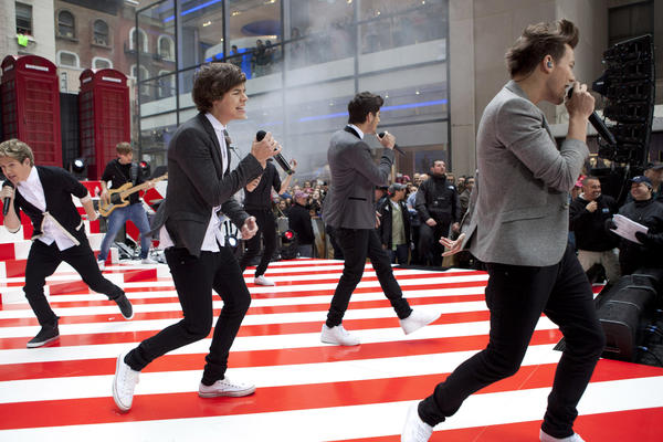"The band ""One Direction"" performs on NBC's Today show in New York."