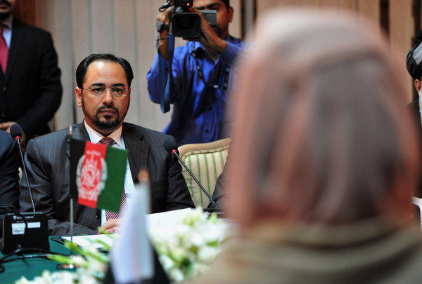 Afghan High Peace Council Chairman Salahuddin Rabbani, with Pakistani Foreign Minister Hina Rabbani Khar, on a four-day visit to Islamabad aimed at enlisting Pakistans help in revving up momentum for peace talks.