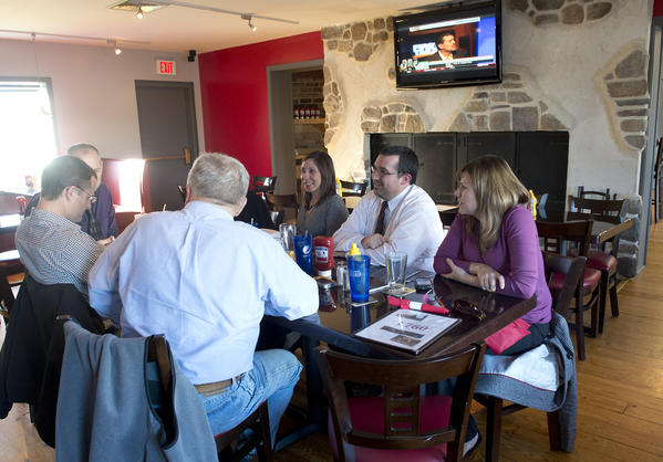 Patrons dine in the 1760 Pub N Grille in Trexlertown on Wednesday, November 14, 2012.