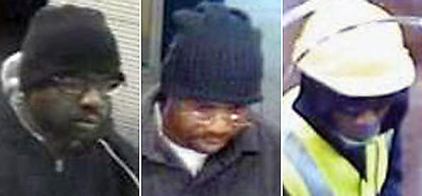 "Bank robbers: ""Stringer Bell"" (left and center) and ""Construction"" (right)."