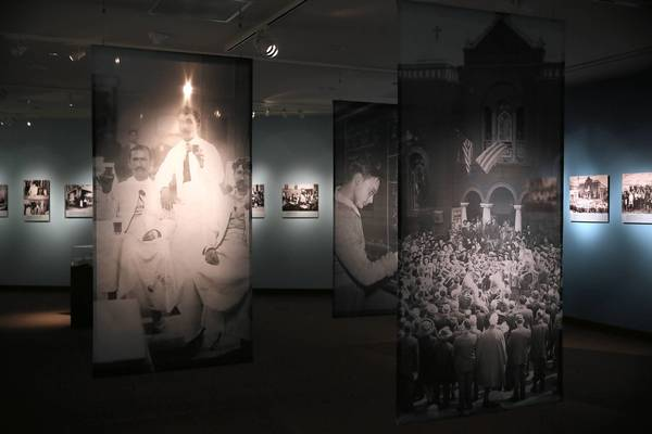 "The exhibit ""American Moments: The Legacy of Greek Immigration"" is shown at the National Hellenic Museum."