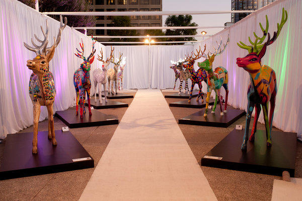 Reindeer painted by Los Angeles artists will be on display around Westfield Century City and Century Park through the holiday season.