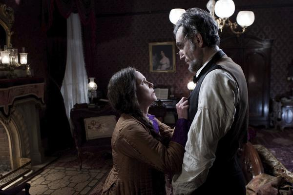 "Daniel Day-Lewis, seen here in a scene with Sally Field, stands as the front-runner in the lead actor Oscar race for his turn in ""Lincoln."""