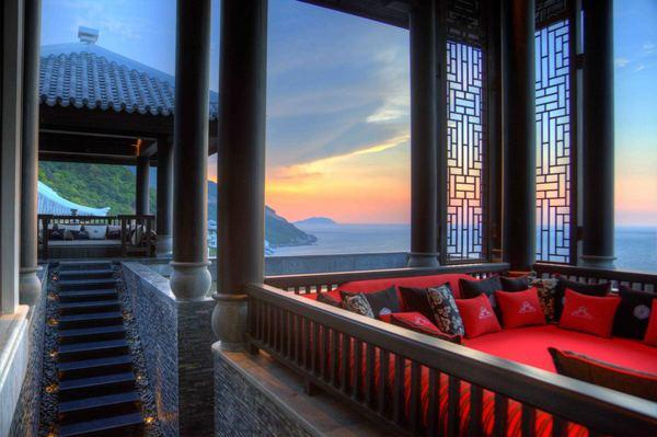 New restaurant at the Intercontinental Danag Sun Peninsula Resort near Danang City, Vietnam, overlooks the East Sea.