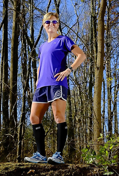 Kathleen Luzier will be back on the Appalachian Trail Saturday hoping to improve on last year's performance, when she finished her first attempt at the race in just less than 9 hours.