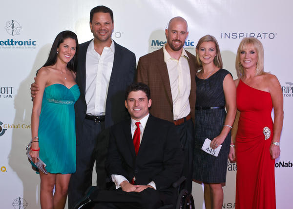 Angelica Biggs; MLB first basemen, Ryan Shealy; Miami Marlins Catcher John Buck and wife Brooke; Micki Purcell and Anthony Purcell
