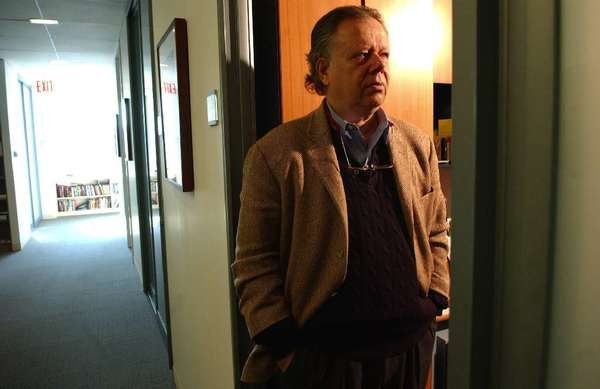 Critic John Lahr at his office at the New Yorker magazine in 2006.