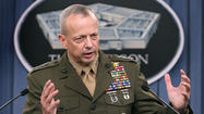 "When Marine Corps Gen. John R. Allen overheard a platoon of first-year midshipmen at the Naval Academy shout ""kill"" during training one summer day a decade ago, he ordered the word expunged from their vocabulary."