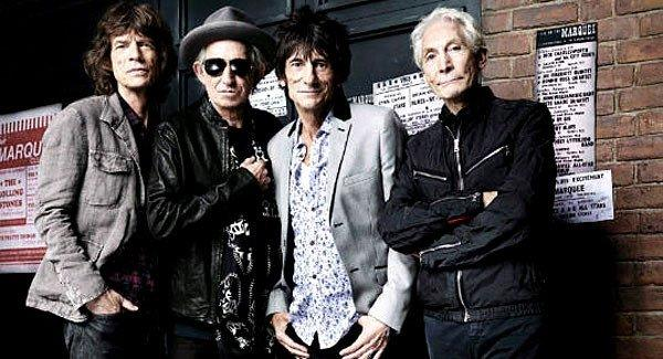 Mick Jagger, left, Keith Richards, Ronnie Wood, Charlie Watts of the Rolling Stones.