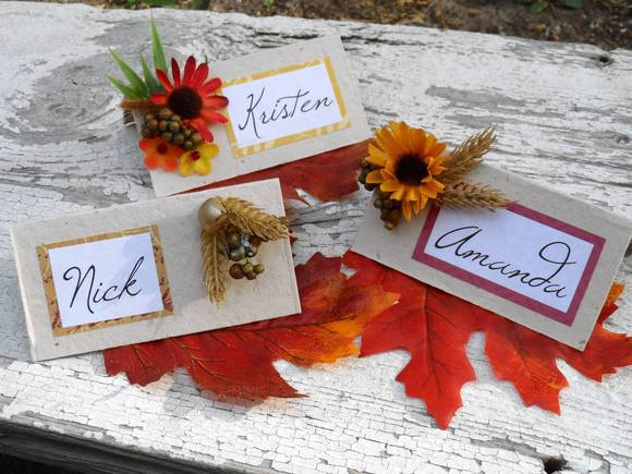 Crafty placecards