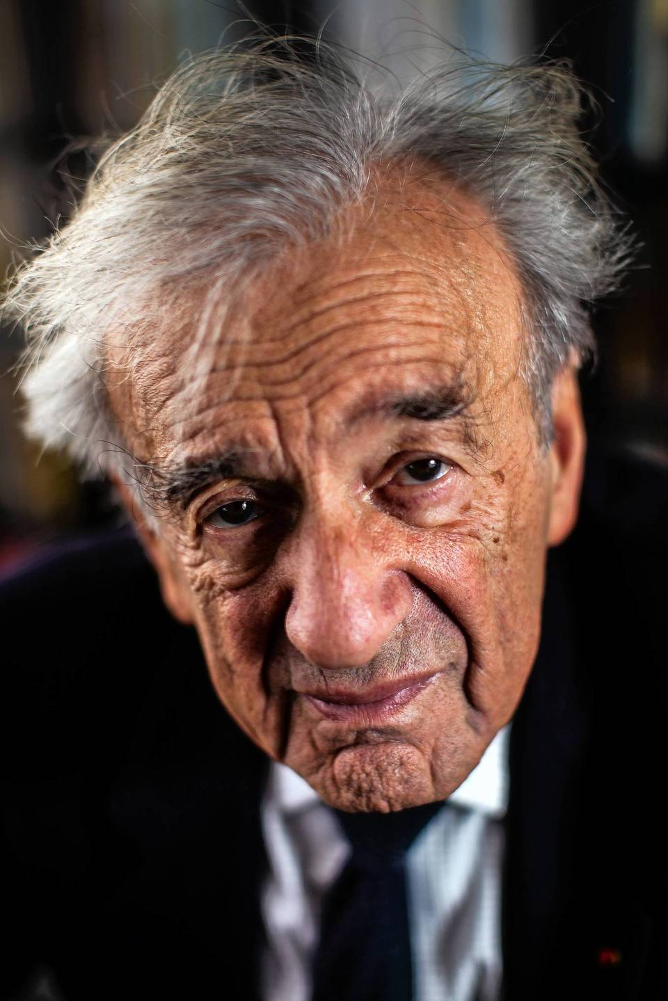 Author Elie Wiesel at his office in New York City. Professor Elie Wiesel is being awarded the Chicago Tribune Literary Award and will speak at the Chicago Humanities Festival on Sunday.