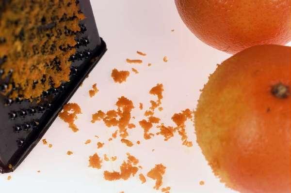 Orange zest.
