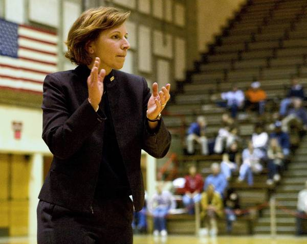 Moravian women's basketball head coach Mary Beth Spirk.