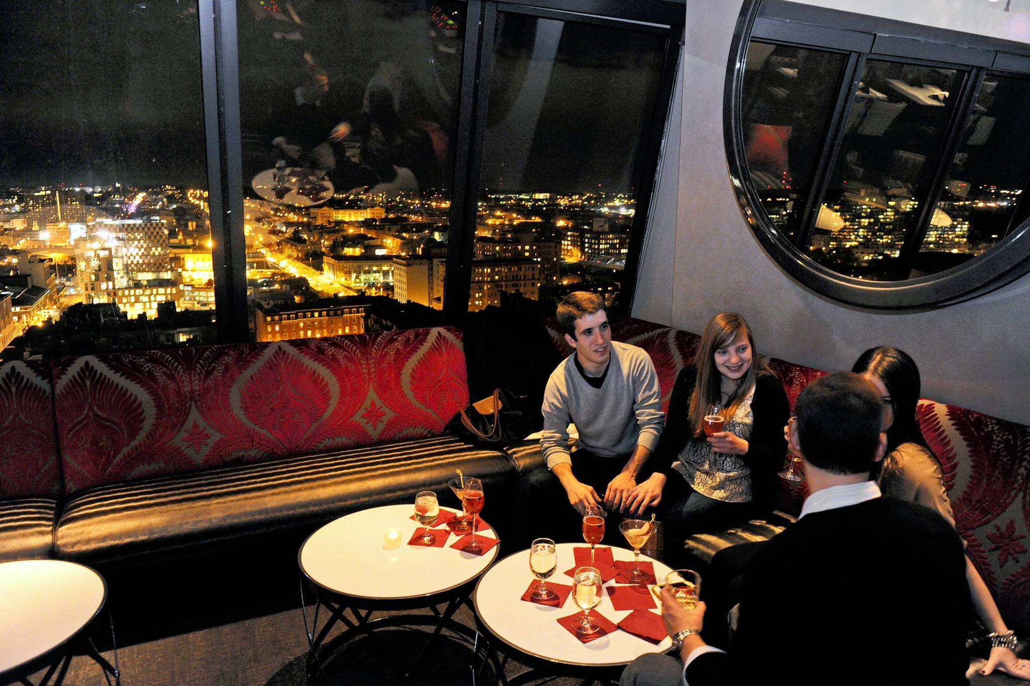 Customers lounge at the 13th Floor.