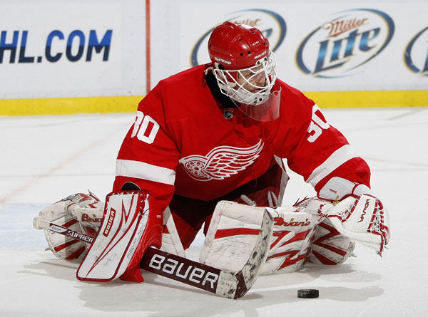 "Longtime <a class=""taxInlineTagLink"" id=""ORSPT000073"" title=""Detroit Red Wings"" href=""/topic/sports/ice-hockey/detroit-red-wings-ORSPT000073.topic"">Detroit Red Wings</a> netminder <a class=""taxInlineTagLink"" id=""PESPT005583"" title=""Chris Osgood"" href=""/topic/sports/chris-osgood-PESPT005583.topic"">Chris Osgood</a> is 38 today. (Photo by Gregory Shamus/Getty Images)"