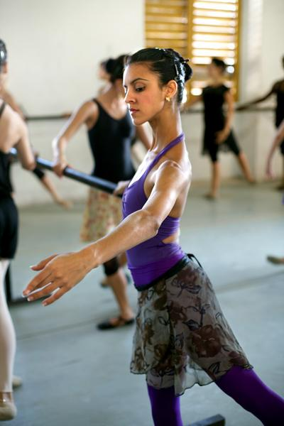 Ballet dancers practice for hours on end at the Laura Alonso Dance Academy in Havana. Laura is the daughter of the acclaimed ballerina Alicia Alonso, the grande dame of Cuban ballet.