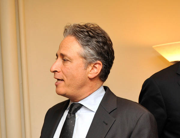 Jon Stewart, seen here with the Boss backstage at the Beacon Theater, celebrates his 49th birthday today.