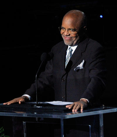 Berry Gordy, founder of Motown, turns 81 today.  (Photo by Kevork Djansezian/Getty Images)