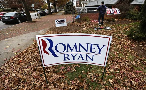 Campaign signs are removed in Manchester, N.H.