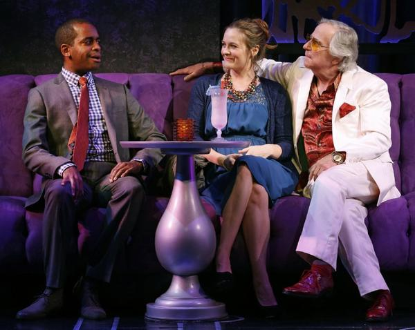 "Daniel Breaker, from left, Alicia Silverstone and Henry Winkler during a performance of ""The Performers"" on Broadway."