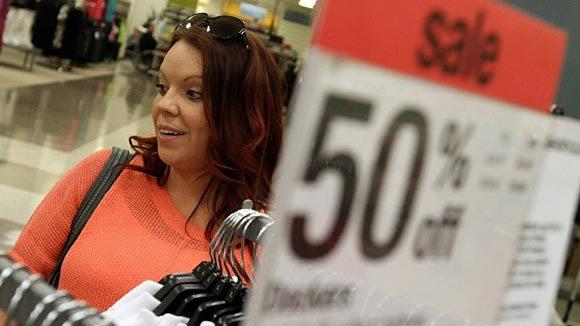 A shopper at the Sears department store on State Street in downtown Chicago.
