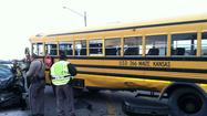Photos: School bus crash in NW Wichita