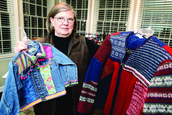 Judy Williamson of Boonsboro makes the clothes she sells by hand. She¿ll participate in the Valley Craft Holiday Network Studio Tour this weekend.