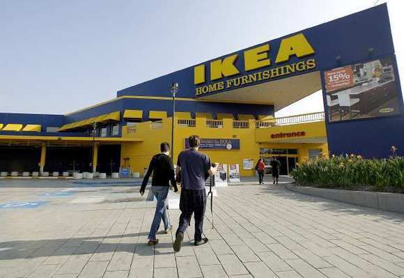 IKEA shoppers go into the N. San Fernando Rd. store in Burbank on Friday, Nov. 2, 2012.