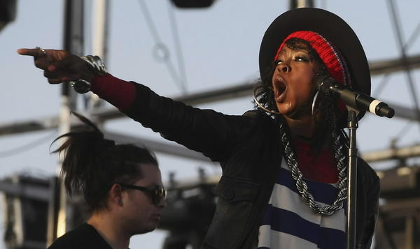 Lauryn Hill performs at Coachella Music Festival earlier this year.