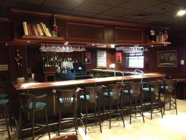 The bar at Tropical Acres is cozy and inviting.