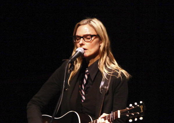 Singer Aimee Mann performs at Carnegie Hall earlier this year.