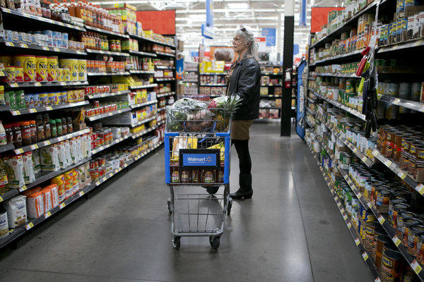 Higher food prices helped push up consumer prices overall, even as gasoline prices slipped.