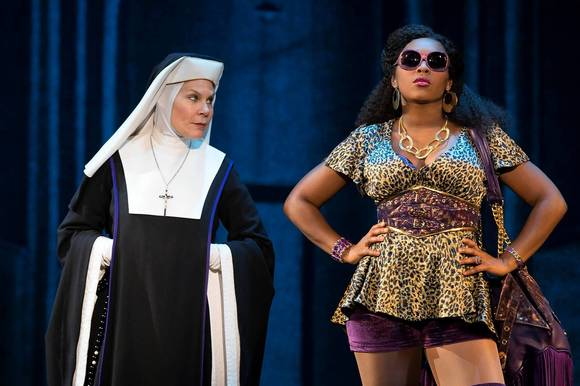 "Hollis Resnik and Ta'rea Campbell in ""Sister Act."""